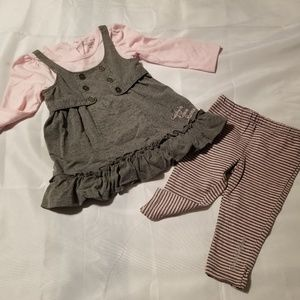 Toddler Calvin Klein dress and tights